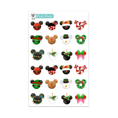 Jolly Mickey Heads Stickers