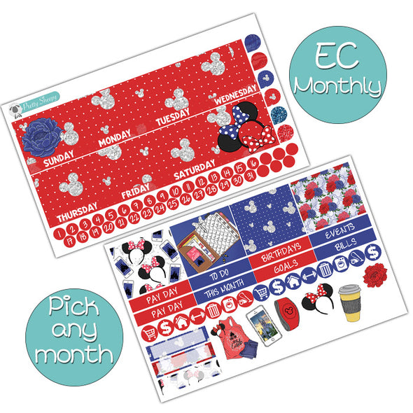 Classic Disney Girl Monthly Kit for Erin Condren Planner - Pick ANY Month!