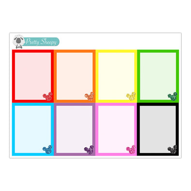 Rainbow Glitter Mouse Full Boxes Stickers