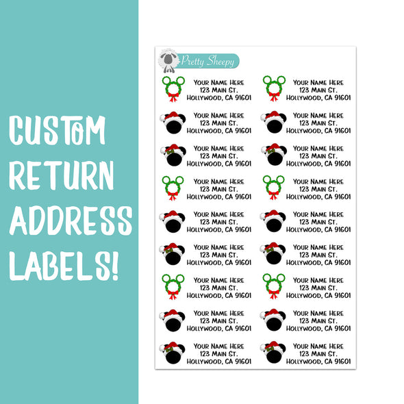 Disney Christmas Custom Return Address Labels