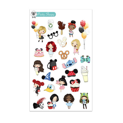 Disney Parks Girls Stickers