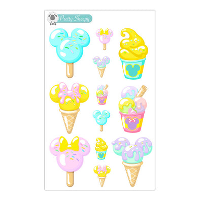 Magical Pastel Snacks Stickers