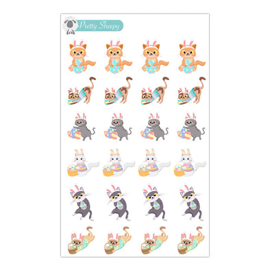 Easter Cats Stickers