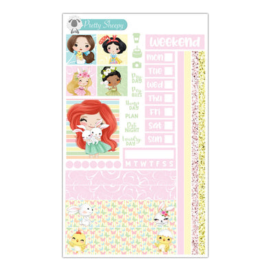Easter Princesses Hobonichi Weeks Stickers