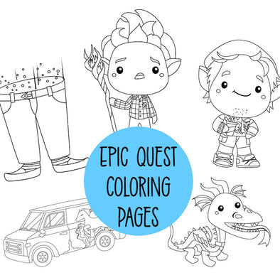 Onward Coloring Pages - FREE DIGITAL DOWNLOAD