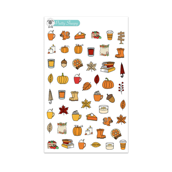 Autumn Doodles Stickers