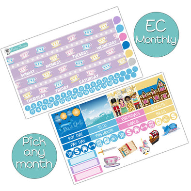 Fantasyland Monthly Kit for Erin Condren Planner - Pick ANY Month!