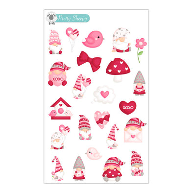 Valentine Gnomes Stickers