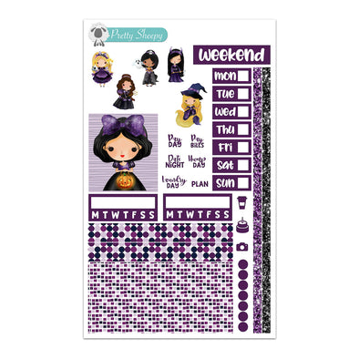 Halloween Princesses Hobonichi Weeks Stickers