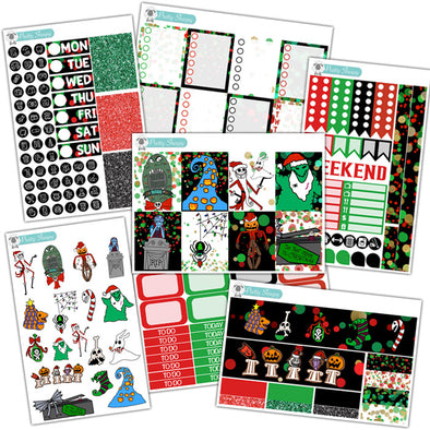 Haunted Holiday Planner Stickers Collection