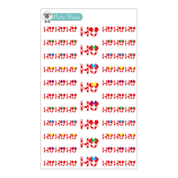 Ho Ho Ho Mouse Stickers