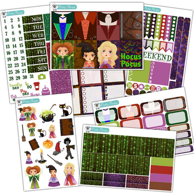 Hocus Pocus Planner Stickers Collection