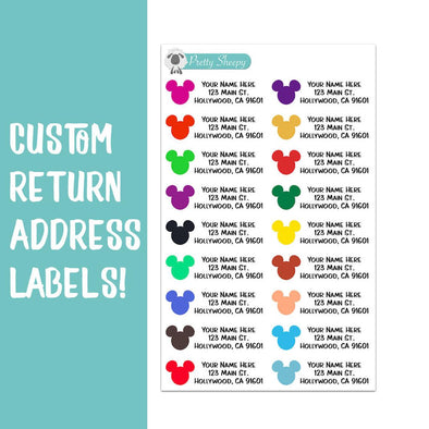Mickey Heads Custom Return Address Labels