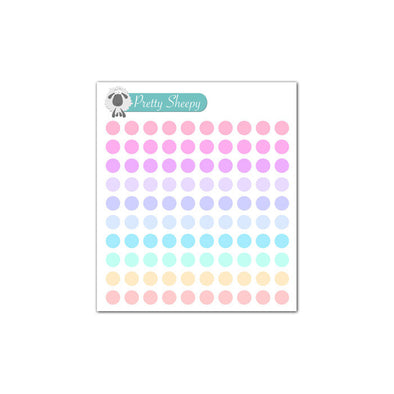 Mini Sheet - Dot Planner Stickers (Pastel)