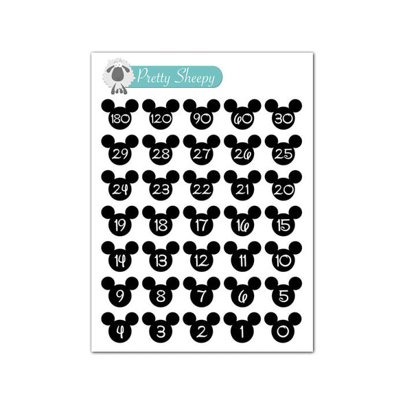 Mini Sheet - Disney Vacation Countdown Stickers