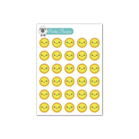 Mini Sheet - Kawaii Weather (Sunny) Planner Stickers