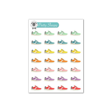 Mini Sheet - Running Sneakers Planner Stickers
