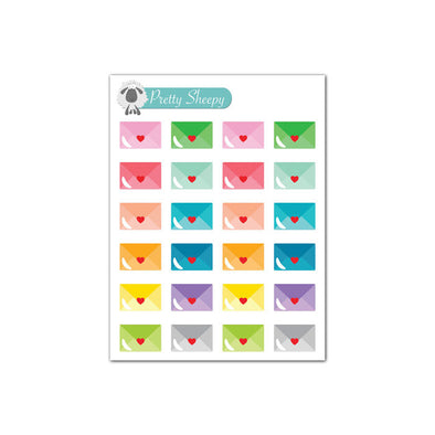 Mini Sheet - Happy Mail Envelope #happymail Stickers