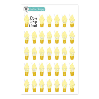 Dole Whip Float Countdown Stickers