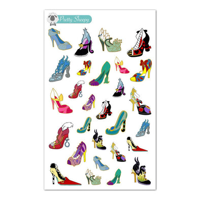 Villains & Princesses Heels Stickers