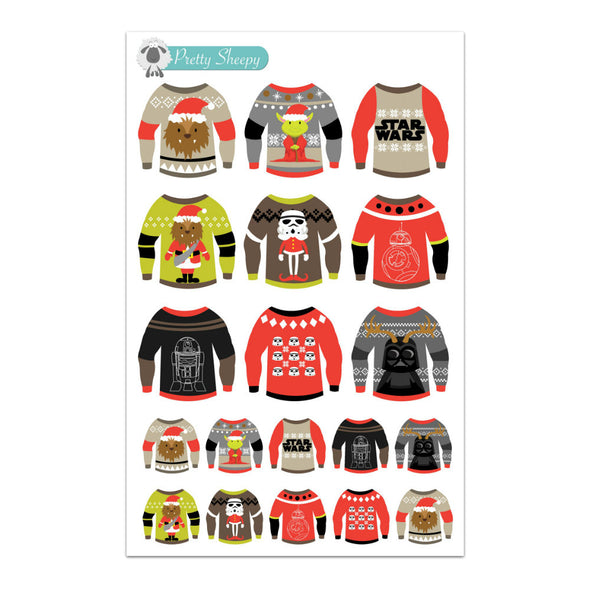 Star Wars Ugly Christmas Sweater Stickers