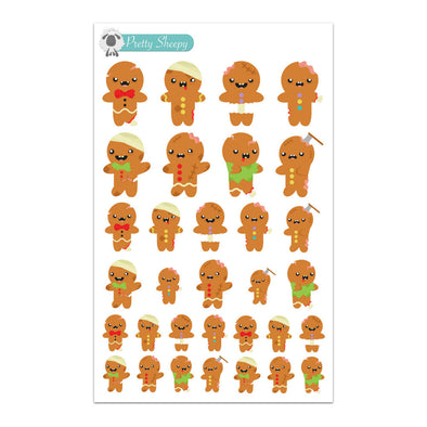 Gingerbread Zombies Stickers