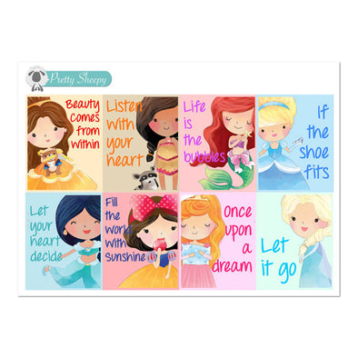 Princess Quotes V1 Full Box Stickers
