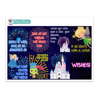 Wishes Fireworks Full Box Stickers