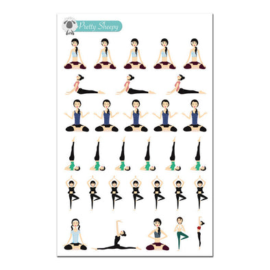 Yoga Stickers - Fitness Planner Stickers