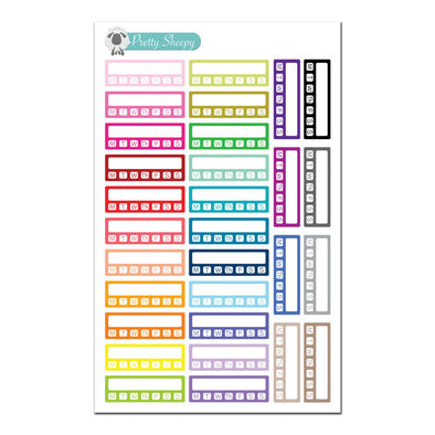 Habit Tracker Boxes - Fitness Planner Stickers