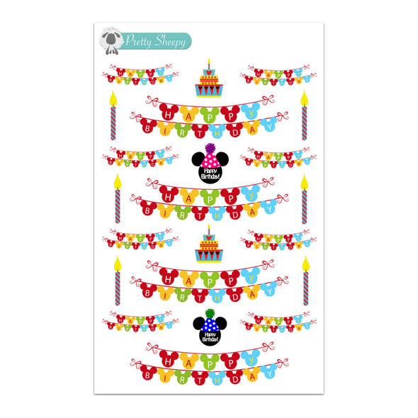 Happy Birthday Banners Stickers