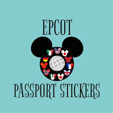 EPCOT Passport Stickers - World Showcase Country Stickers