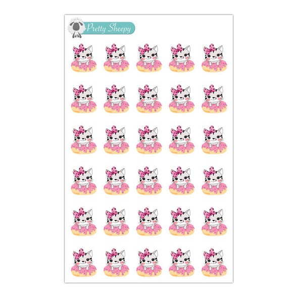 Cat Donut Stickers