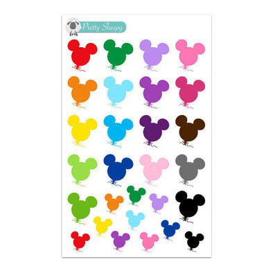 Colorful Mickey Balloons Stickers