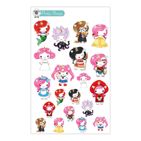 Unicorn Character Stickers