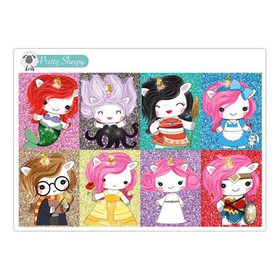 Unicorn Character Full Box Stickers