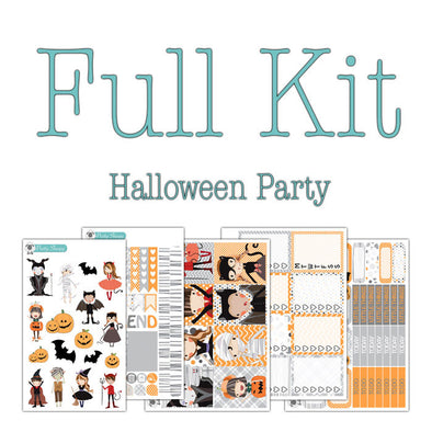 Halloween Party Collection Planner Stickers