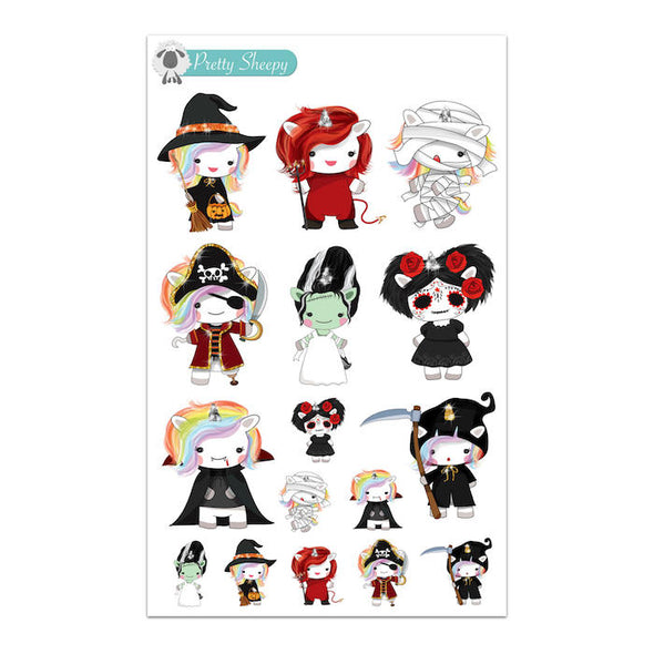 Halloween Unicorn Stickers