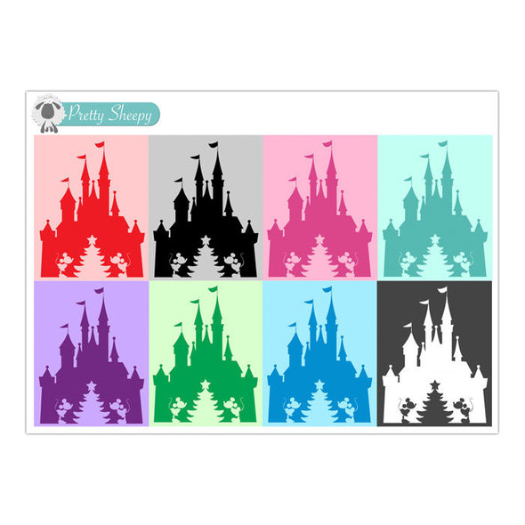 Christmas Tree Castle Full Box Stickers