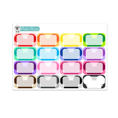 Colorful Mickey Head Half Box Stickers