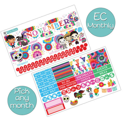 Coco Monthly Kit for Erin Condren Planner - Pick ANY Month!