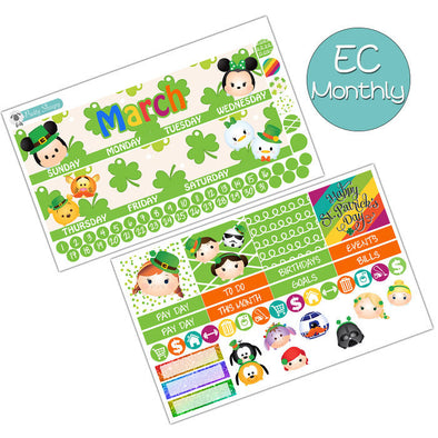 Lucky Tsum March Monthly Kit for Erin Condren Planner