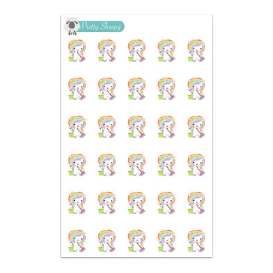 Clean Unicorn Planner Stickers