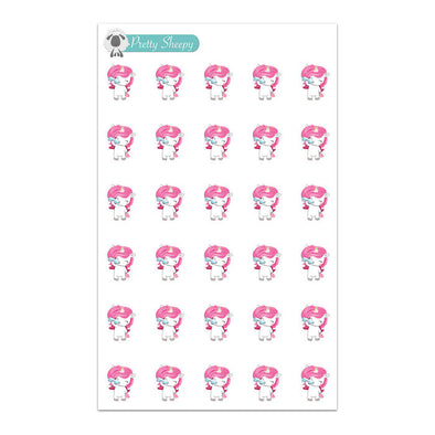 Drink Water Unicorn Planner Stickers