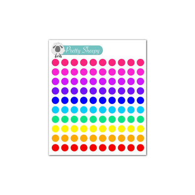 Mini Sheet - Dot Planner Stickers (Rainbow)