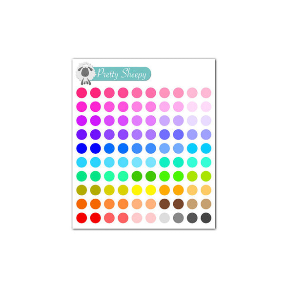 Mini Sheet - Dot Planner Stickers (Multi)