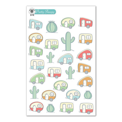 Retro Campers & RV Planner Stickers
