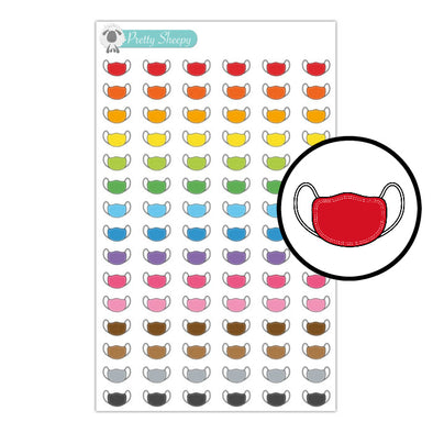 Masks Stickers - Rainbow Doodles