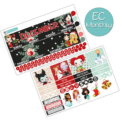 Merry Villainmas Christmas December Monthly Kit for the Erin Condren Planner