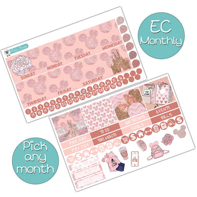 Millennial Disney Girl Monthly Kit for Erin Condren Planner - Pick ANY Month!
